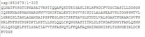 Peroxydases sequence format fasta